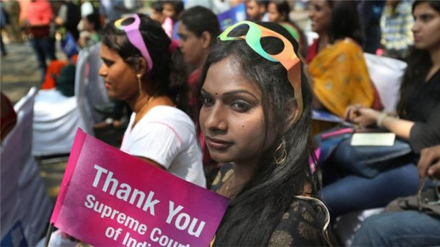 Hundreds from the transgender community gathered to celebrate the SC judgment, back in 2014.