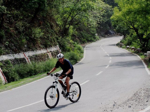 road of hilly areas