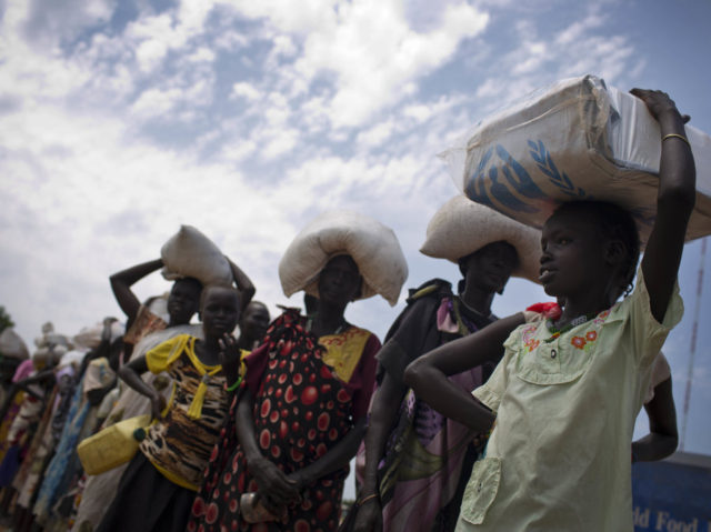 People dying of hunger in SOuth Sudan.