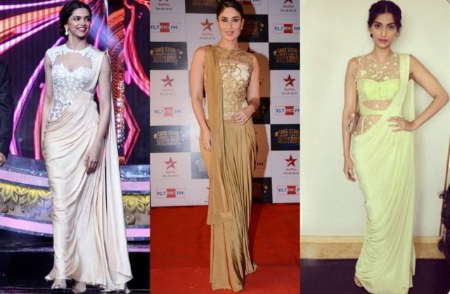 saree gown trends