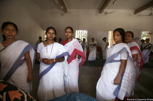 Female inmates in India