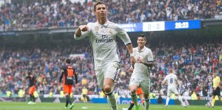 Cristiano Ronaldo celebrates his goal vs Valencia