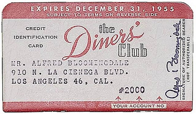 Diner's Club card was the first version of a modern credit card