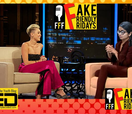 fake friendly fridays miley cyrus