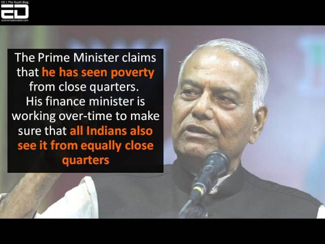yashwant sinha on economy