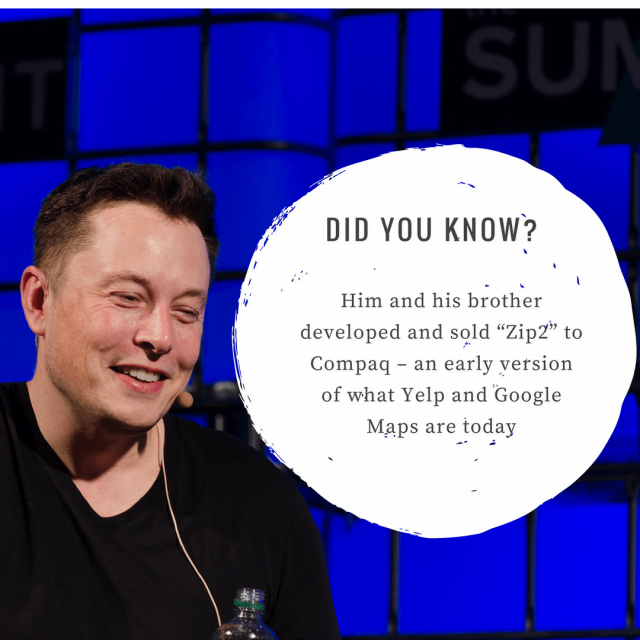 Elon Musk created an early prototype of Google Maps and Yelp