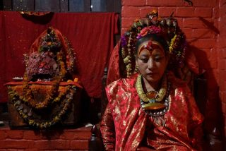 The 60-year-old self-proclaimed 'Kumari', Dhana Kumari Bajracharya