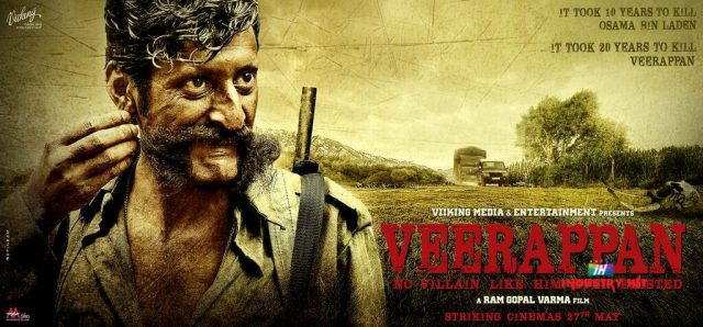 Poster of a movie on Veerappan