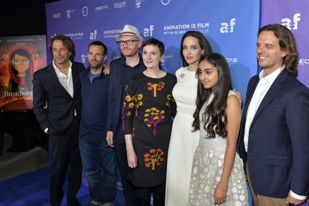 The cast and crew of The Breadwinner at the Animation Is Film Fest in Hollywood