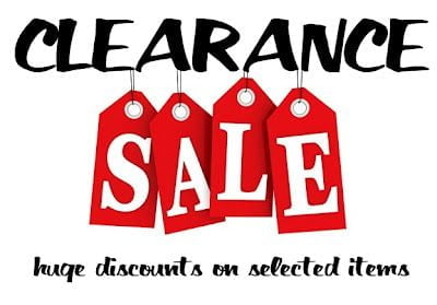 End of the year sales - Clearance sales