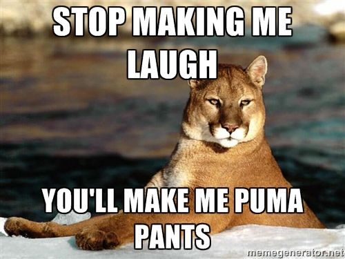 Stop Making Me Laugh, You'll Make Me Puma Pants