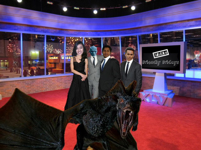 ED's Manaved, Jibin and Chirali with Drogon and Night's King