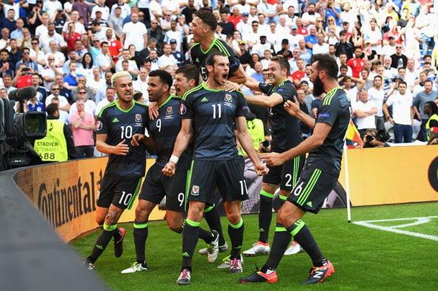 Gareth Bale mobbed by his teammates as their talisman makes his mark