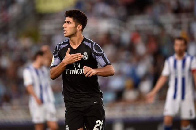 Asesnsio scored on his La Liga debut with a lovely chip over the goalkeeper.