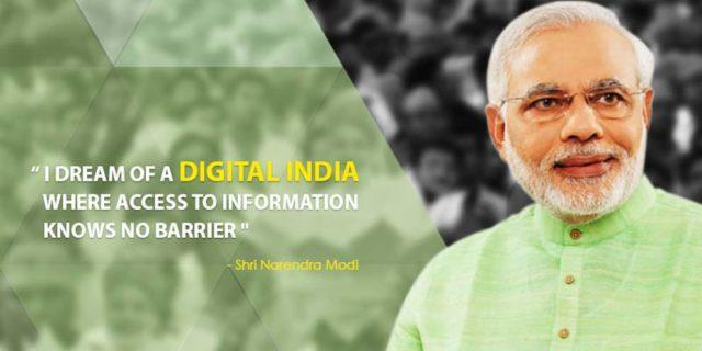 PM Narendra Modi on Digital India Campagain