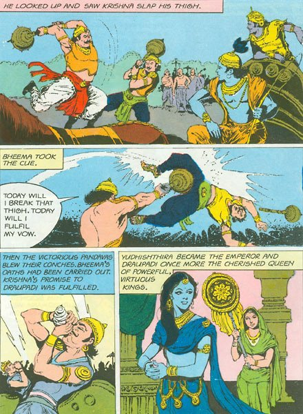 Draupadi and her blue-ness.