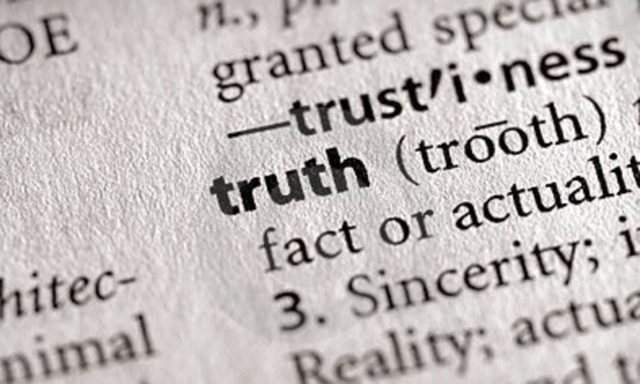 Truth or post truth?