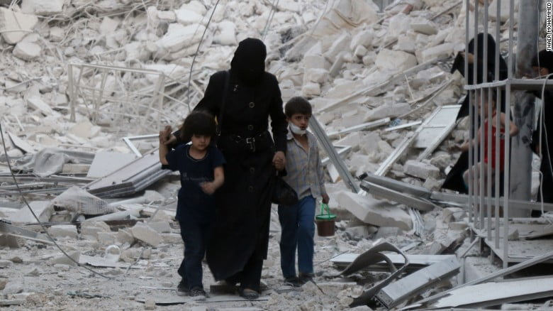 Bombings have empties many towns and cities in Syria.