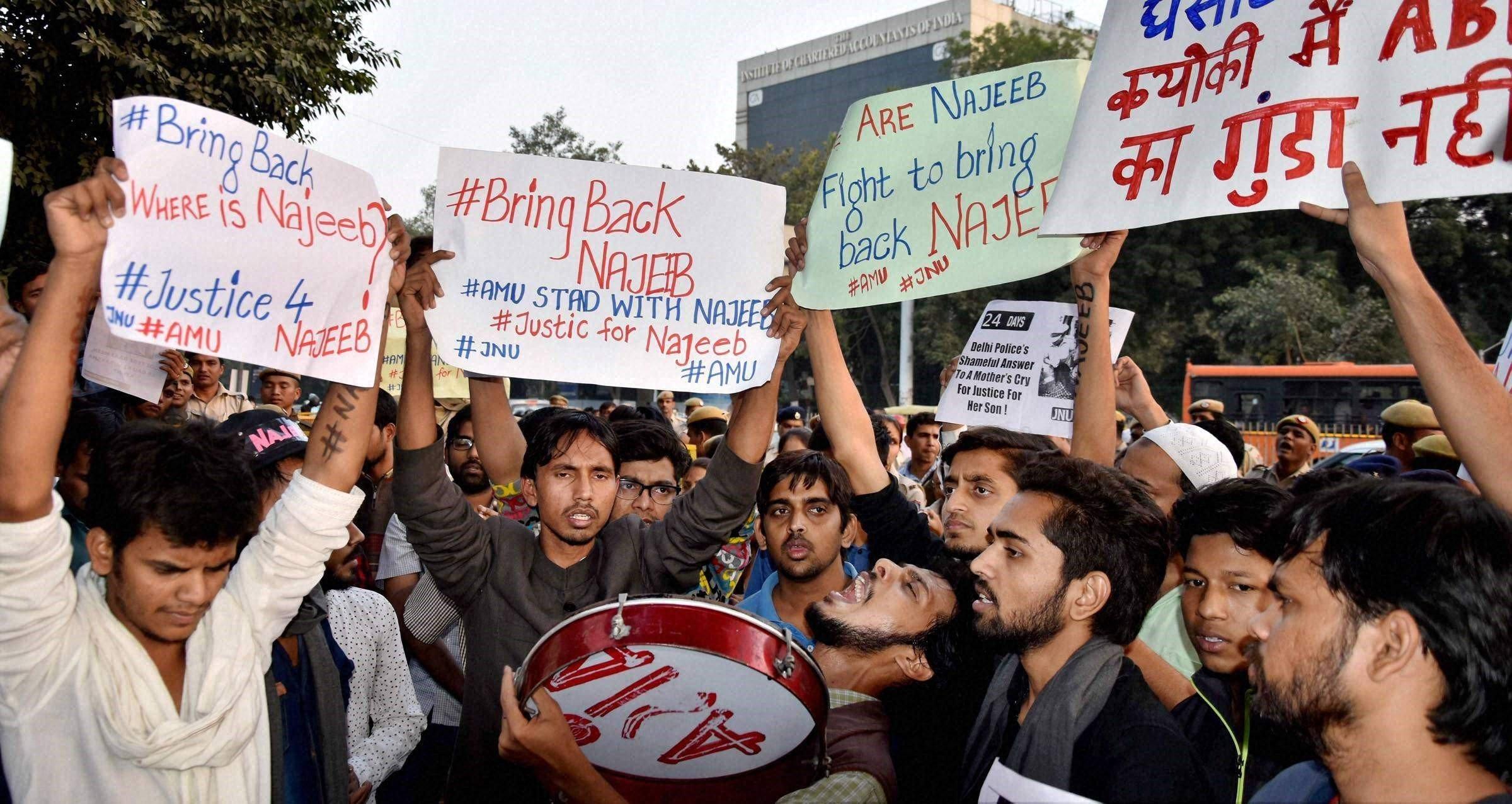 Najeeb Ahmed - protest