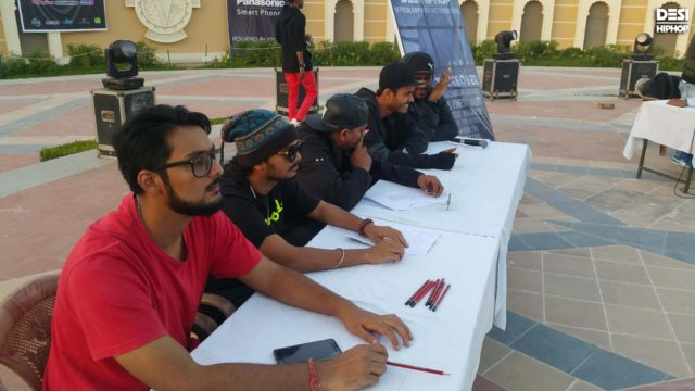 The Quixotic (first from left) was one of the judges at Rap Wars 2016.