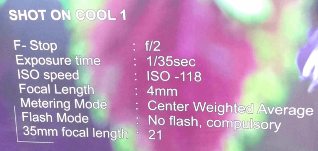 Features of Coolpad Camera
