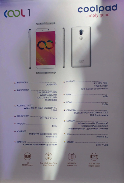 coolpad features