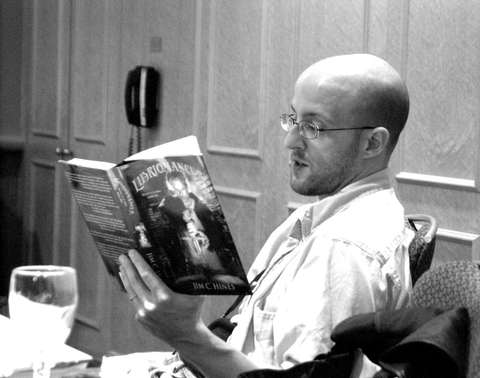 Jim-C-Hines-Reading libriomancer