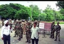 Sirsa flag march for peace