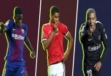 Best Young Football Players Dembele-Rashford-Mbappe