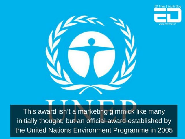 'Champions Of The Earth' Award