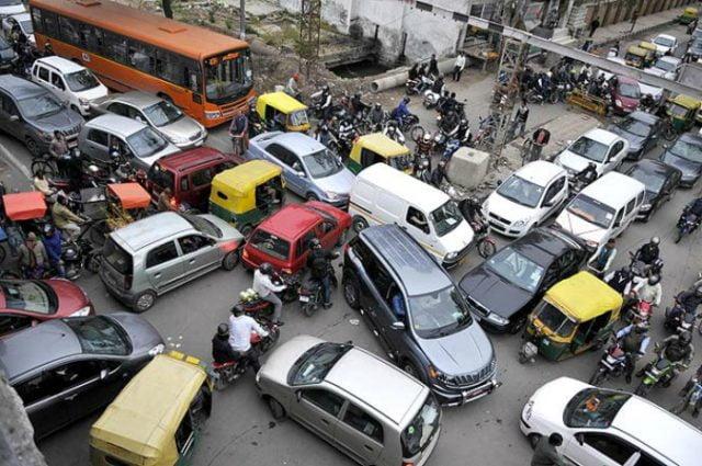 delhi traffic jam free