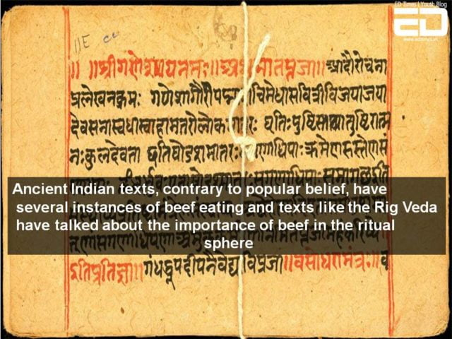 beef eating in ancient india