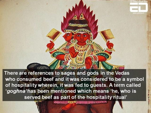 beef eating ancient india