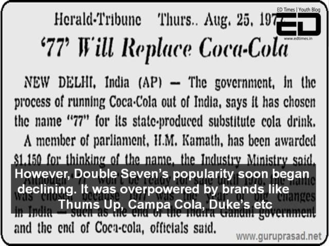Double Seven Indian cola