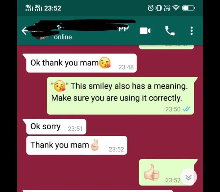 Whatsapp smileys sex