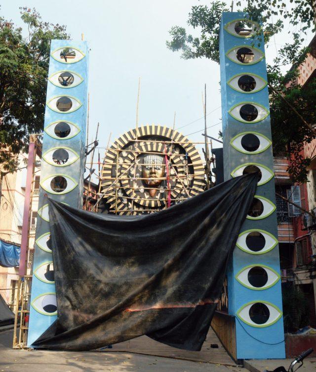 Durga Puja pandal visually impaired