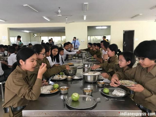 The first 'Girl Cadets' in a Sainik School