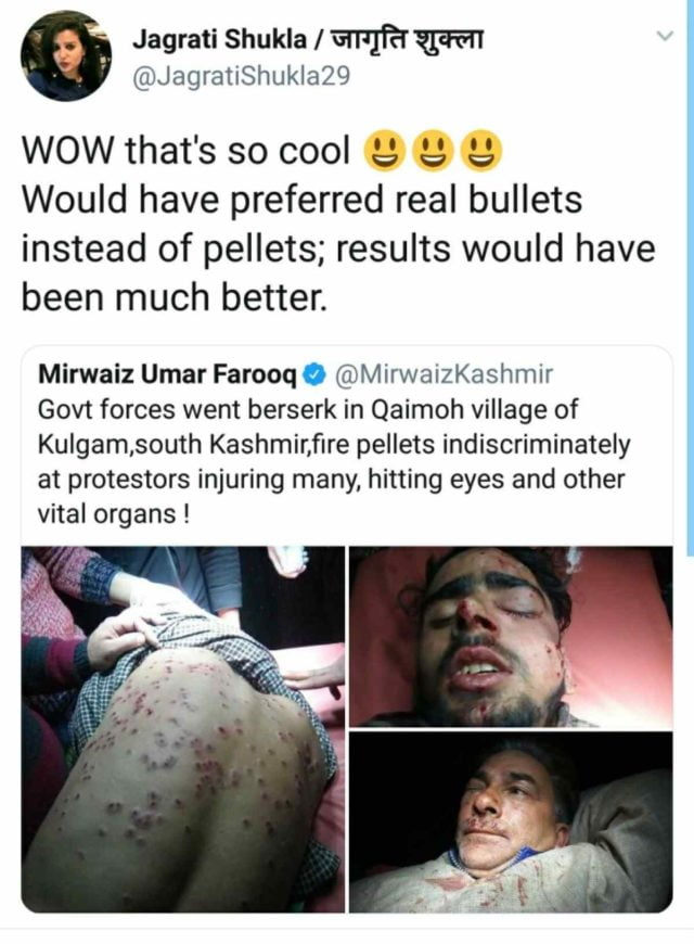 . Jagriti Shukla's Account Has Been Suspended On Twitter For Inciting Hate Against The Kashmiris