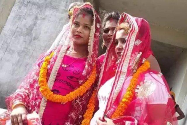 Indian lesbian couple