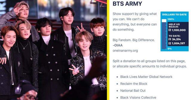 BTS Fans black lives matter