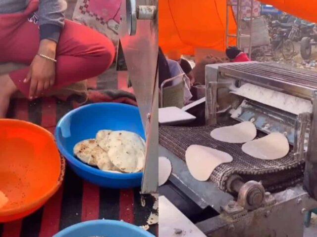 roti making machine farmers protest
