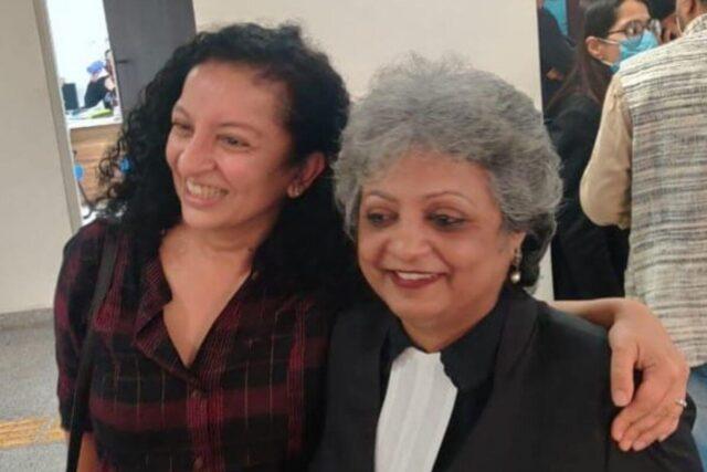 Priya Ramani with Rebecca John
