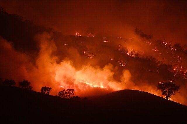The Dunn Road fire in Mount Adrah, Australia, on Jan. 10, 2020
