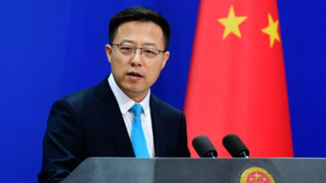 Chinese Foreign Ministry spokesperson Zhao Lijian addresses a regular news briefing in Beijing, China