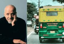 Paulo Coelho autorickshaw