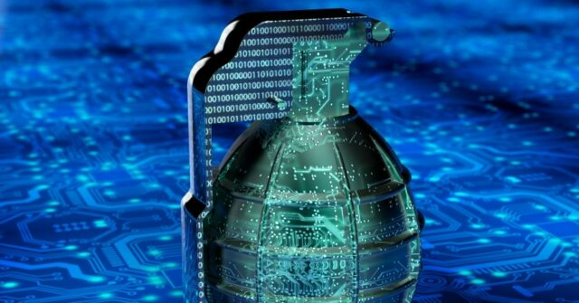 A conceptual image of a grenade, foretelling a cyber war that awaits the world