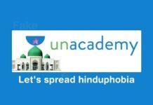 unacademy hinduphobic