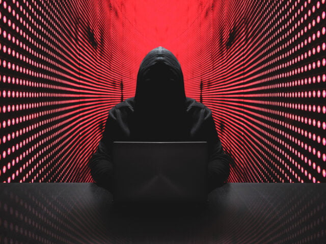 Computerized and stylized image of a hacker